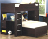 Coaster dark loft bunk bed shelves 400227