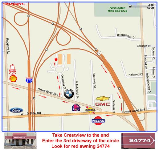 Farmington Hills Michigan Map.Novi Farmington Hills Mattress And Bed Store