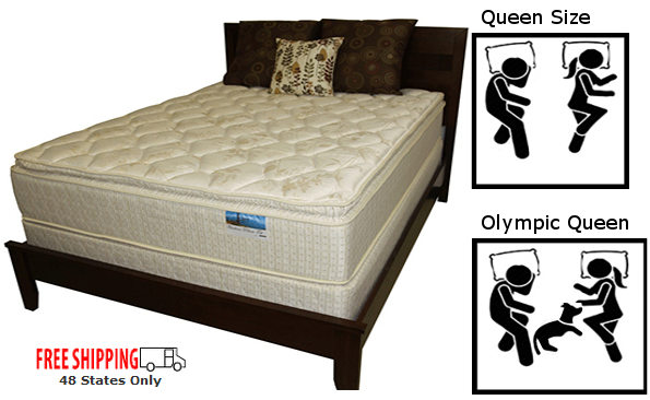 Olympic Queen Expanded Extra Wide Custom Mattress with Free Shipping