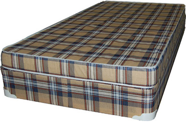 cheap foam mattress plaid color covering