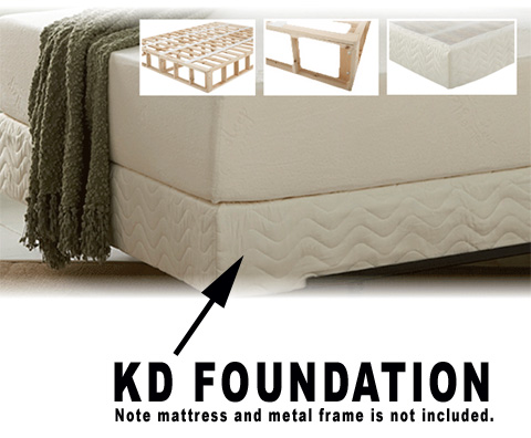 KD box spring style firm foundation