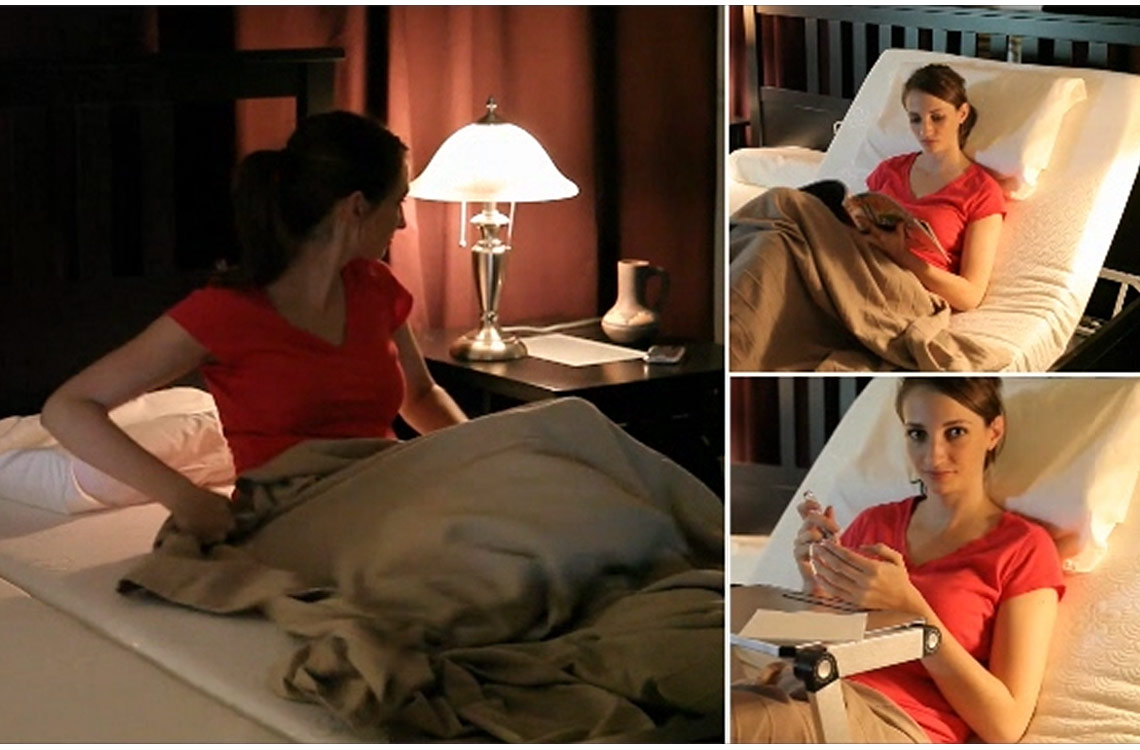 Pragma Adjustable Metal Bed Frame Raises Head And Feet