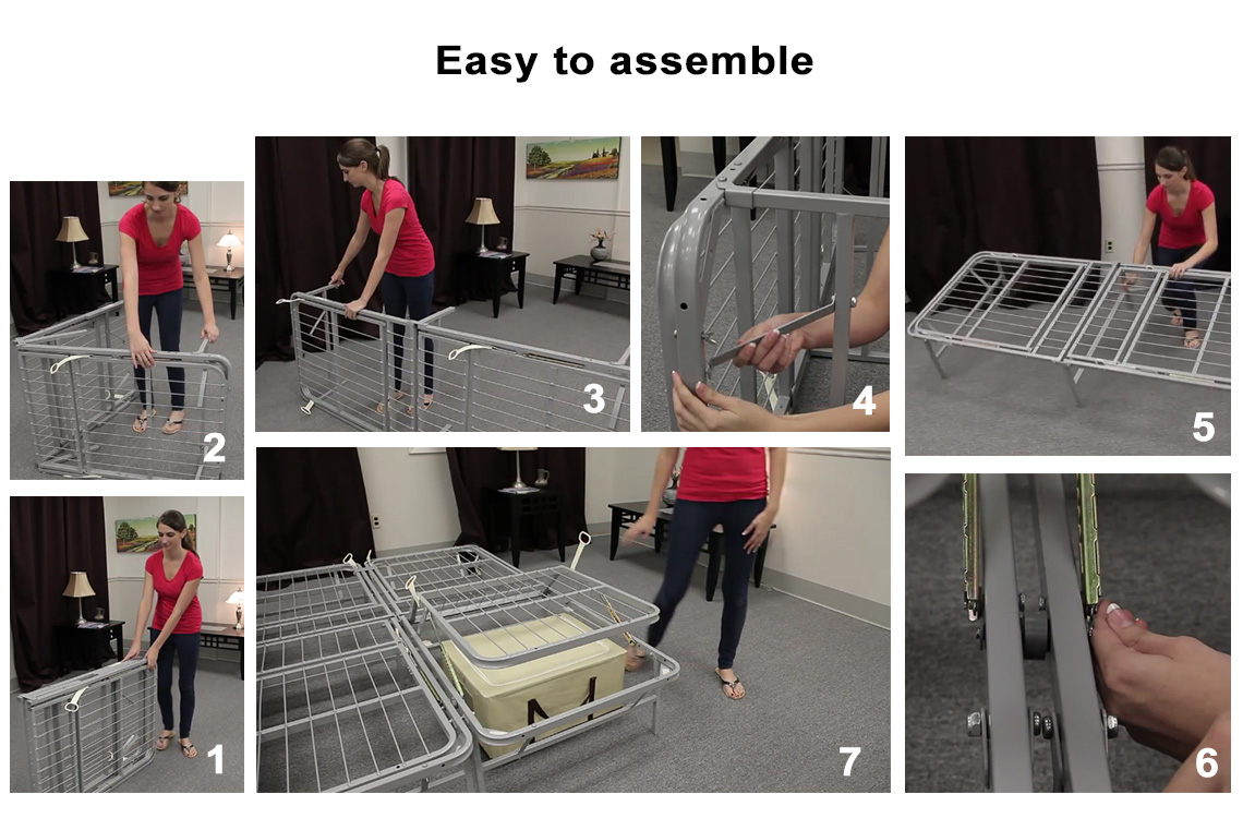 Pragma Adjustable Metal Bed Frame Raises Head And Feet