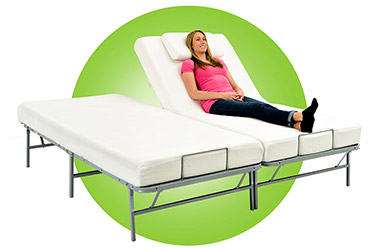 girl relax on adjustable bed