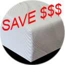 built to order mattress cut corners rounded corners memory foam gel infused memory foam custom sizes