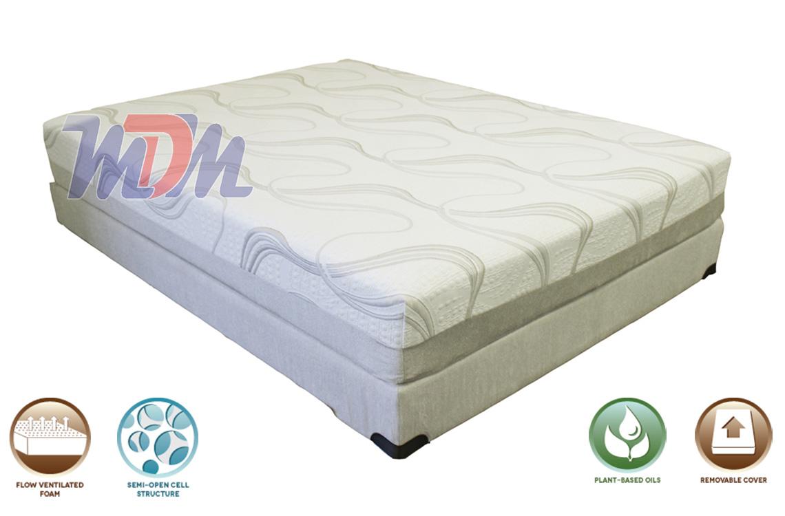 Gel Lux 10 Affordable Natural Gel Memory Foam Mattress