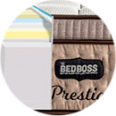 gel memory foam latex hybrid medium plush the bed boss prestige pillow top