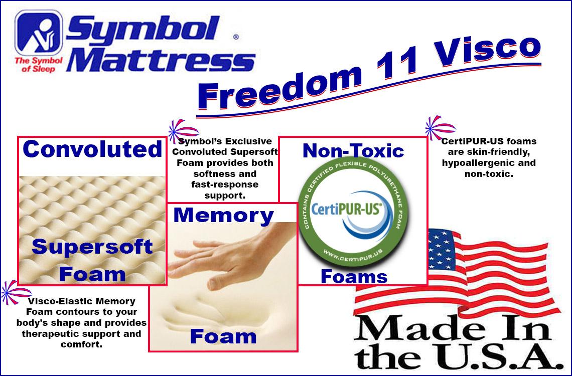Freedom 11 Memory Foam A Plush Memory Foam Mattress By Symbol